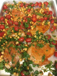 chicken and chickpeas precooked