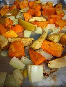 cider dijon porkchops roasted veggies