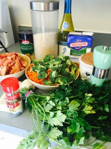 Creamy Chicken and Rice Ingredients