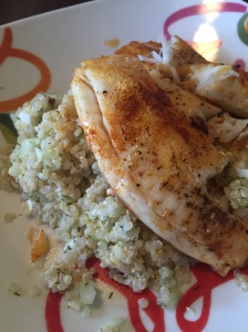 Hurry to the Table Cucumber and Feta Quinoa with Tilapia